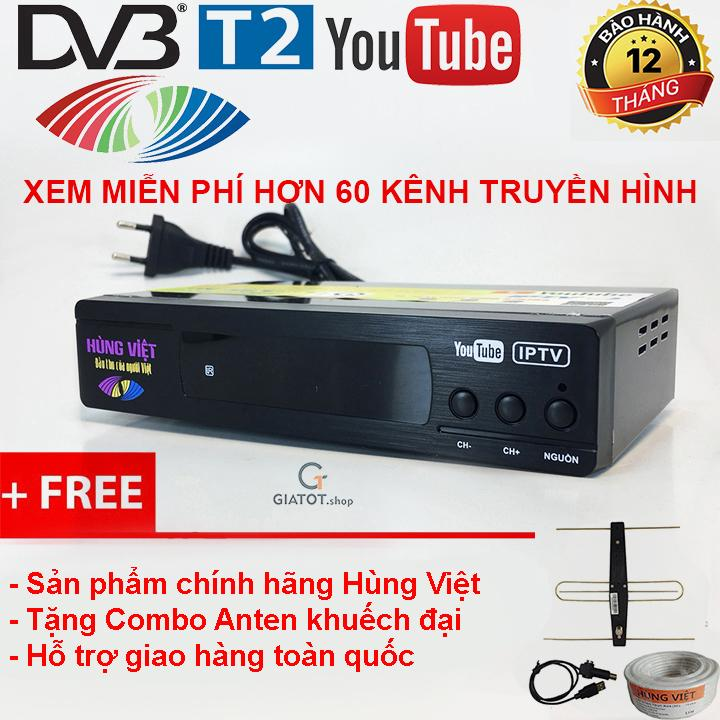 Hình ảnh Đầu thu kỹ thuật số DVB T2 HÙNG VIỆT TS-123 tặng Combo Anten khuếch đại