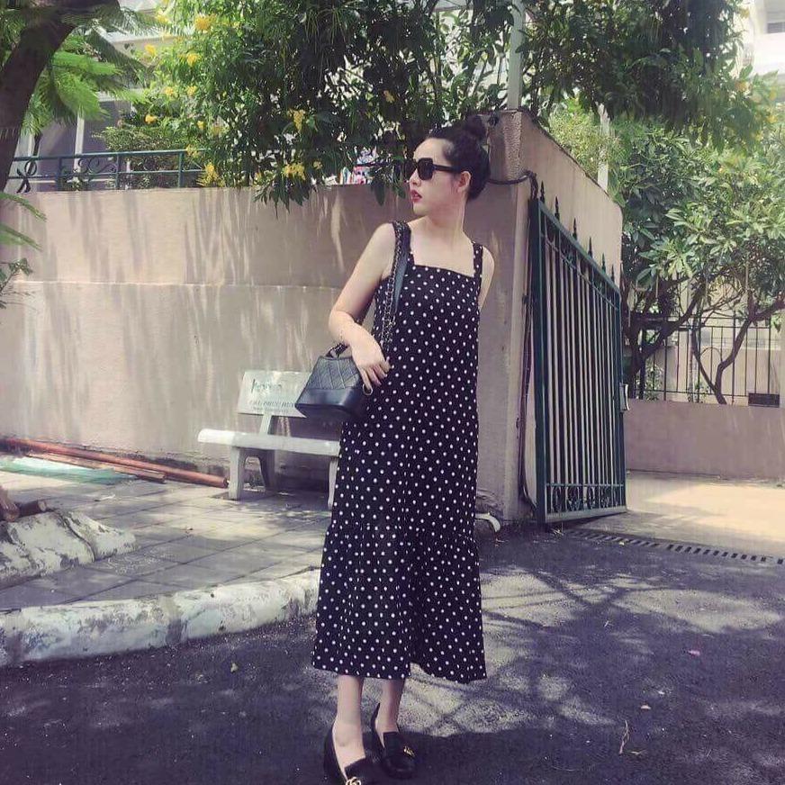 Bán Đầm Maxi Chấm Bi Đuoi Ca Trực Tuyến Trong Việt Nam