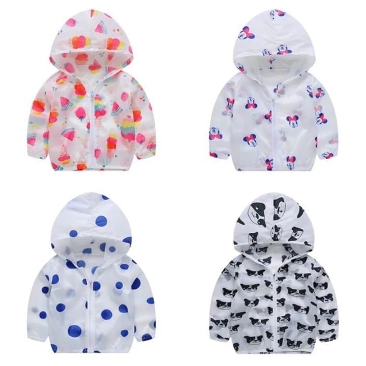 Hình ảnh (Được chọn mẫu) Áo khoác gió 1 lớp cho bé trai, bé gái, áo gió