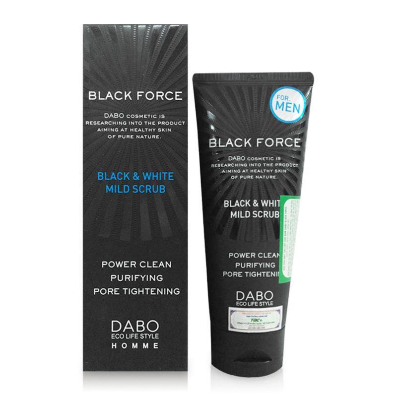 Sữa rửa mặt dành trị mụn trắng da dành cho nam DABO Black Force giá rẻ