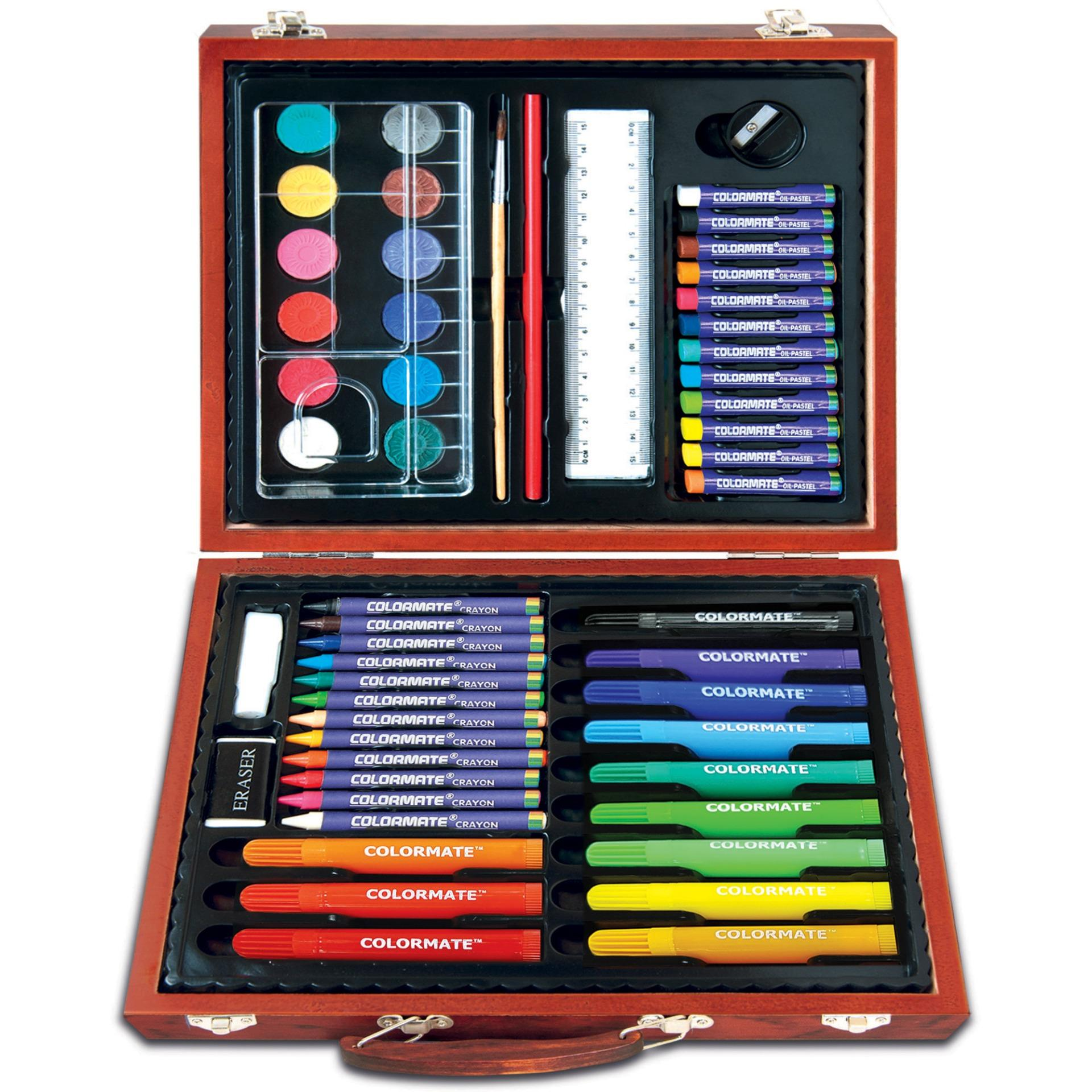 Hình ảnh Bộ màu vẽ đa năng hộp gỗ Colormate MS 56W