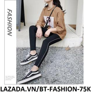 Quần Dài Nữ Thun Ôm Legging Thể Thao Thời Trang Hàn Quốc - BT Fashion (QTT02-Viền) thumbnail