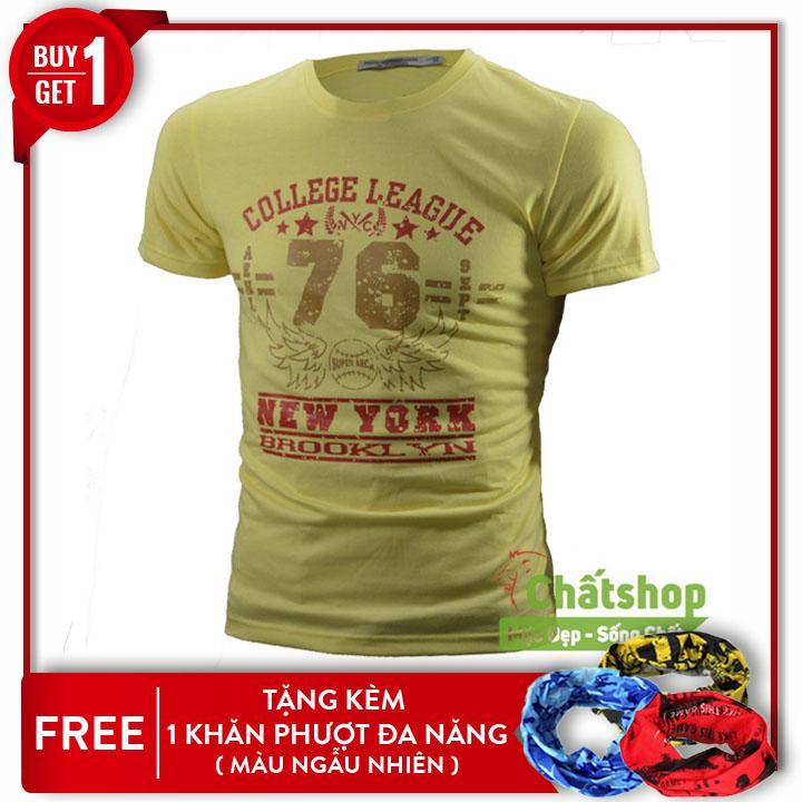 Cửa Hàng Ao Thun Ngắn Tay College 76 Tặng 1 Khăn Phượt Đa Năng Ngẫu Nhien Hồ Chí Minh