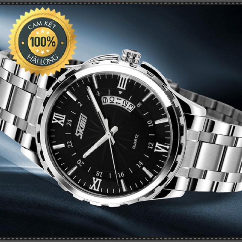 Đồng hồ nam chính hãng Skmei 9069 chống nước, chống xước, vỏ thép cao cấp