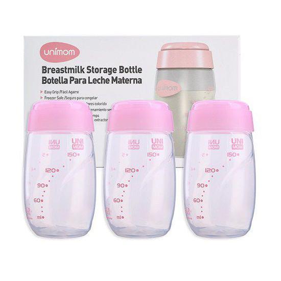 Bộ 3 Bình Trữ Sữa Mẹ Unimom UM880045 - 150ml Siêu Khuyến Mãi