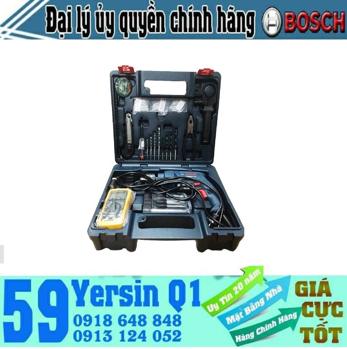 Bộ máy khoan 13mm thợ điện Bosch GSB 550