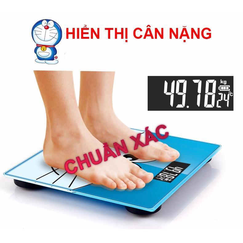 Cân sức khỏe điện tử Doraemon hình vuông nhập khẩu