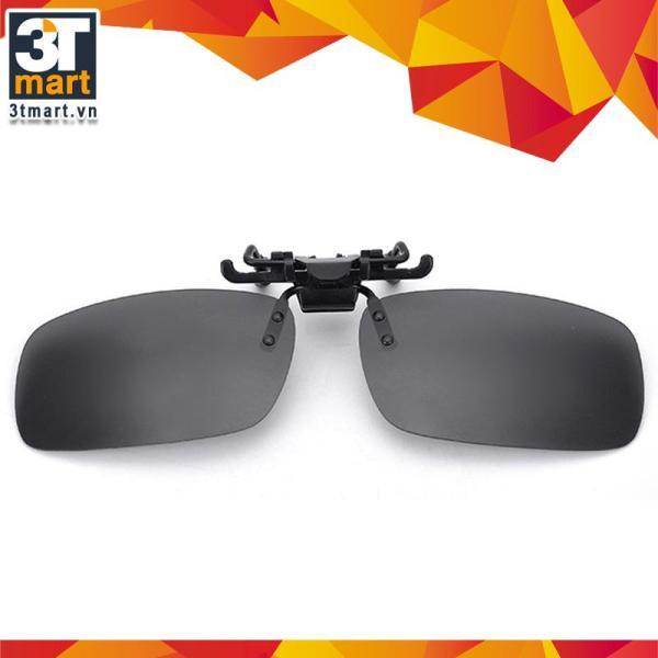 Giá bán Tròng kính mát kẹp phân cực cho người cận 3Tmart RE02XK (xám khói)