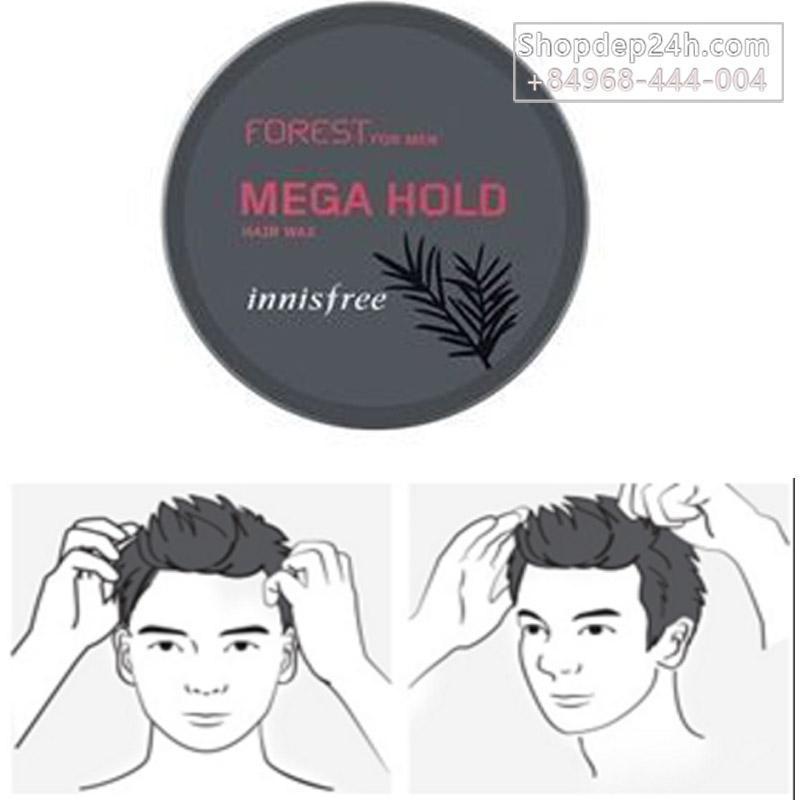 [Innisfree] Sáp wax tạo kiểu tóc Innisfree Forest For Men Hair Wax 3 kiểu - 60g giá rẻ