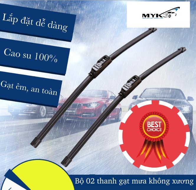 Bộ 02 thanh gạt mưa không xương - dành cho tất cả các dòng xe Myk