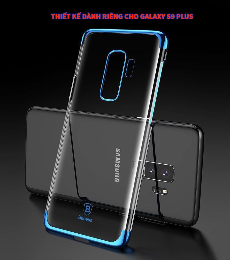 Ốp Lưng Viền Mau Cho Samsung Galaxy S9 Plus Baseus Glitter Mới Nhất