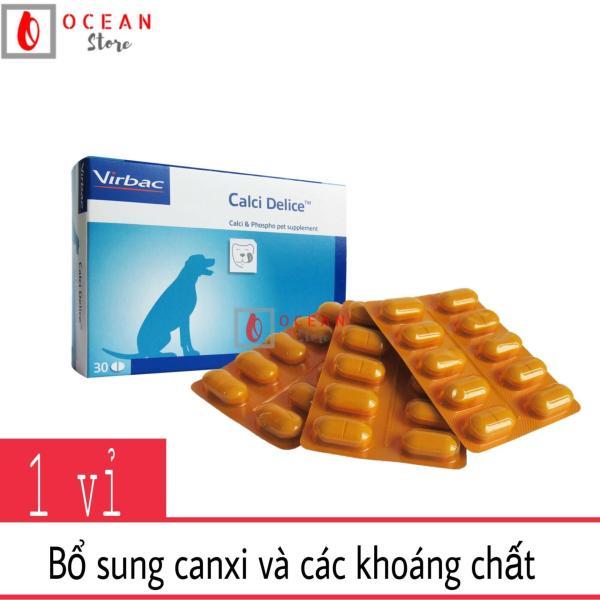 Calci cho chó - Gel bổ sung calci Virbac Calcidelice 10 viên