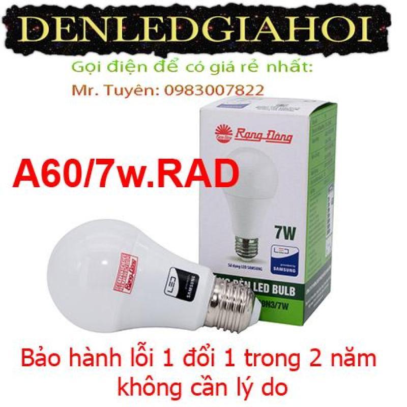 Bóng đèn led cảm biến 7W và 9W Rạng Đông, model  LED BULB A60/7w.RAD