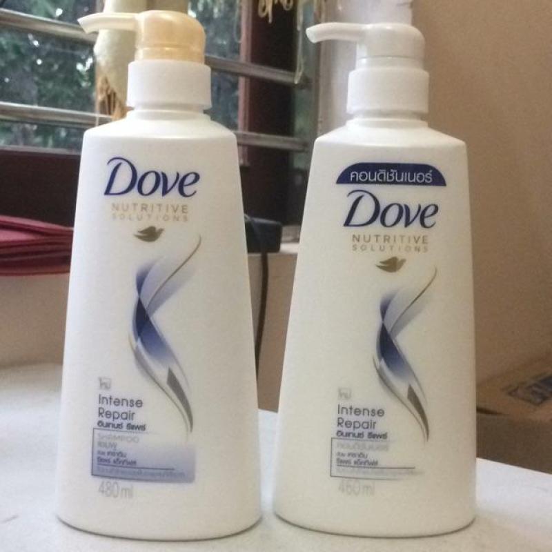 Bộ sản phẩm dầu gội + dầu xả DOVE 480ml - Thái Lan giá rẻ