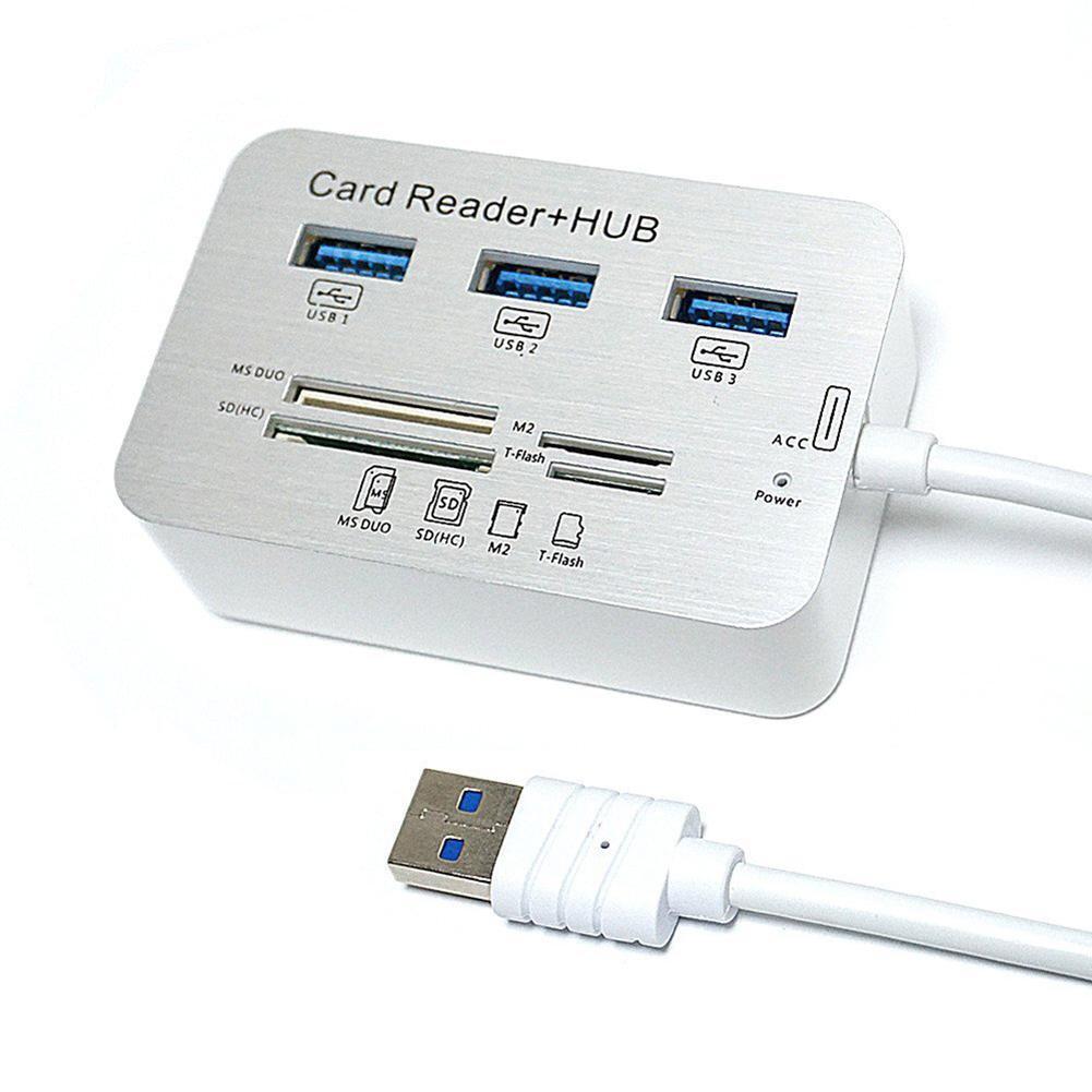 USB3.0 Đầu Đọc Thẻ và 3 Cổng Hub USB Tốc Độ Cao Bên Ngoài Đầu Đọc Thẻ Nhớ (MS, Micro SD, SD/MMC, M2, Thẻ TF) Nhật Bản