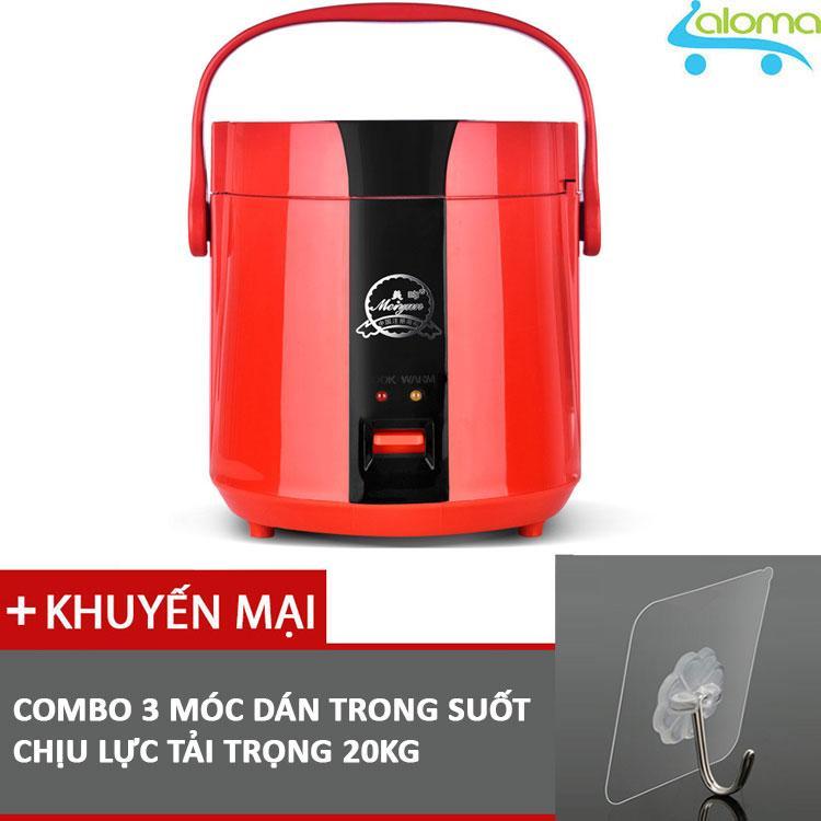 Nồi cơm điện mini 1.2L Meiyun B12-A nấu cơm hâm nóng nấu cháo hầm xương kèm 3 móc dán tường