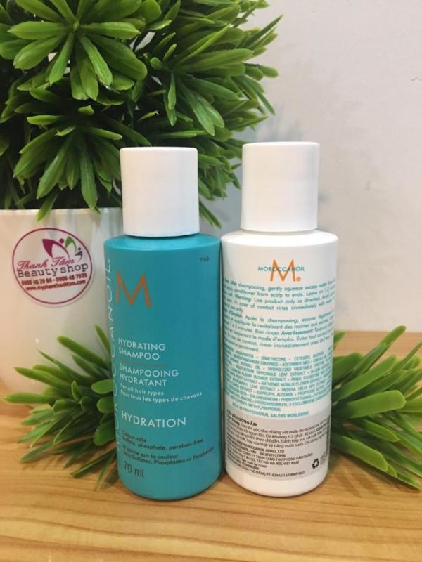 Dầu gội xả dưỡng ẩm Moroccanoil Hydration 70mlx2