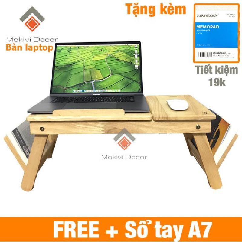 Bàn laptop gỗ đa năng TẶNG KÈM sổ tay A7 (100 trang) - bàn laptop xếp gọn thông minh