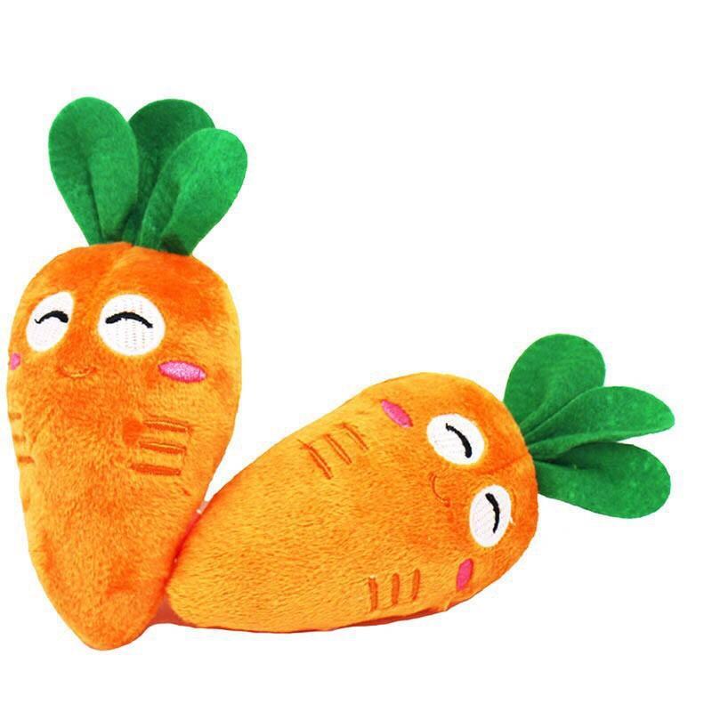 Hình ảnh Đồ chơi nhồi bông cầm tay hình củ cà rốt bóp kêu chút chít cho bé