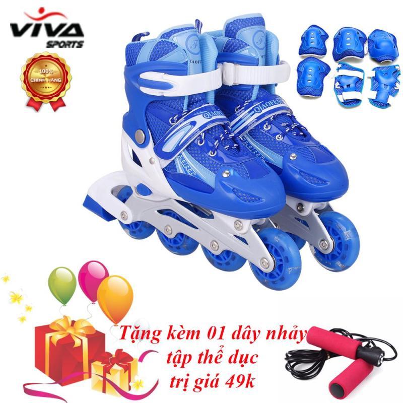 Mua Bộ Giày Trượt Patin Gắn Đinh Phát Sáng (SIZE M) + Đồ Bảo Hộ - VIVA SPORT (TẶNG KÈM 1 DÂY NHẢY)