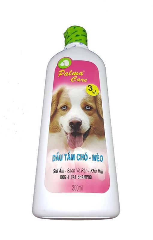 Dầu tắm chó mèo FAY Palma Care 500ml 3 trong 1 giữ ẩm sạch ve khử mùi