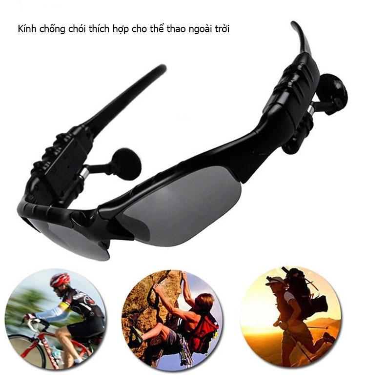 Mắt kính Bluetooth Sport Grown Tech V4.1 AT120 (Đen)