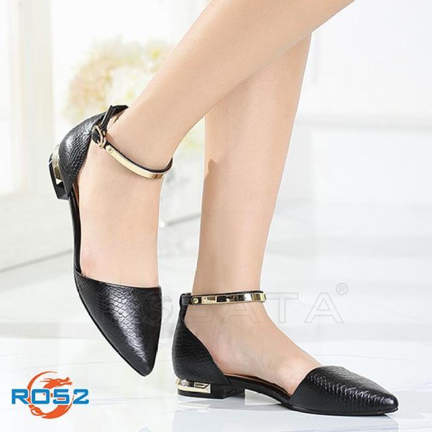 Giày búp bê nữ Rosata bệt quai vàng RO52 giá rẻ
