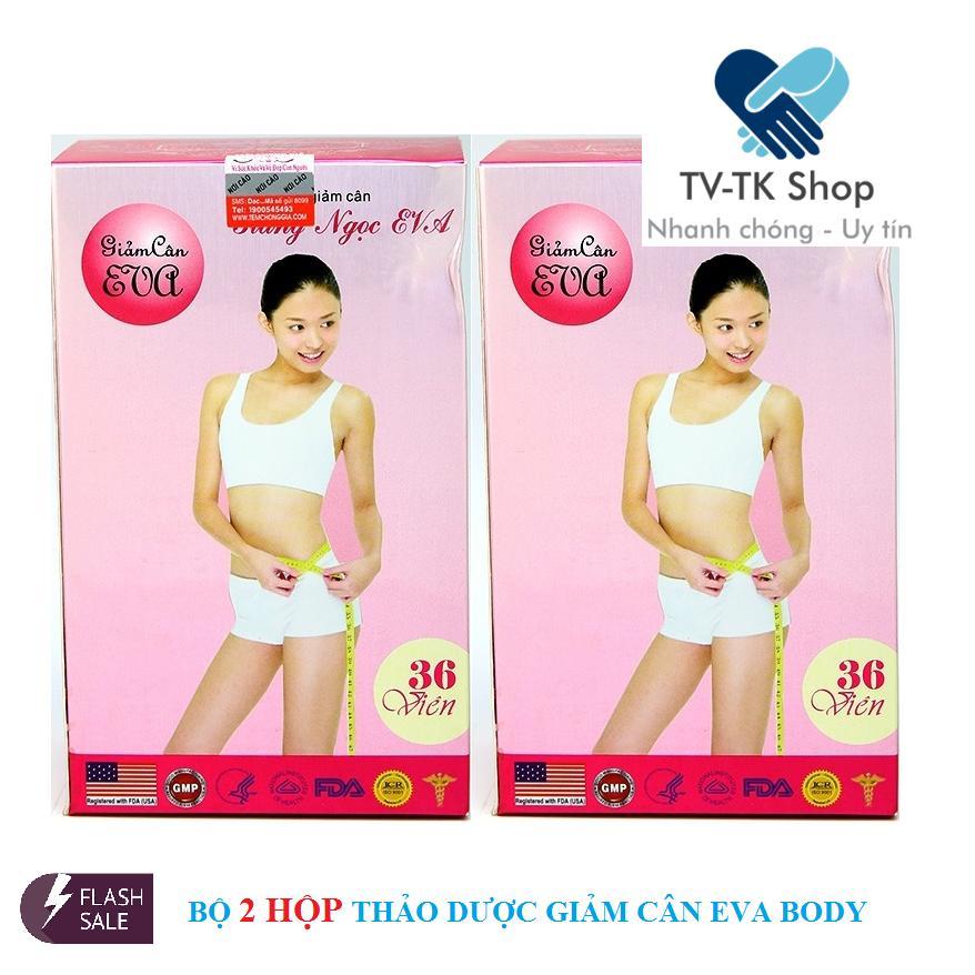 Bộ 2 Hộp Thảo Dược Giảm Cân Giáng Ngọc Eva (Eva Body Slim) cao cấp