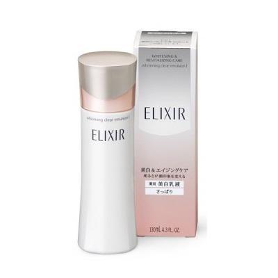 Sữa dưỡng ẩm trắng da Elixir Whitening Clear Emulsion I 130mL dành cho da dầu - Nhật bản tốt nhất