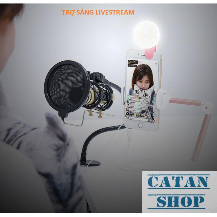 Hình ảnh Đèn LED selfie trợ sáng SLED-MiniQ tặng kèm dây sạc led livestream tự sướng ring light