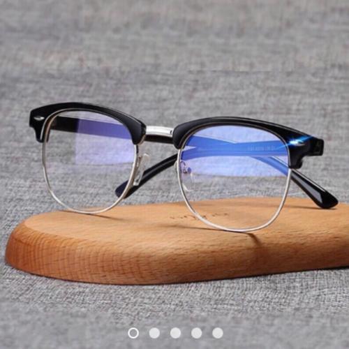 [HCM]Kính mát giả cận nữa gọng kiểu dáng 219 tròng kính bằng nhựa cao cấp có khả năng chống trầy xước form kính ôm gọn khuôn mặt