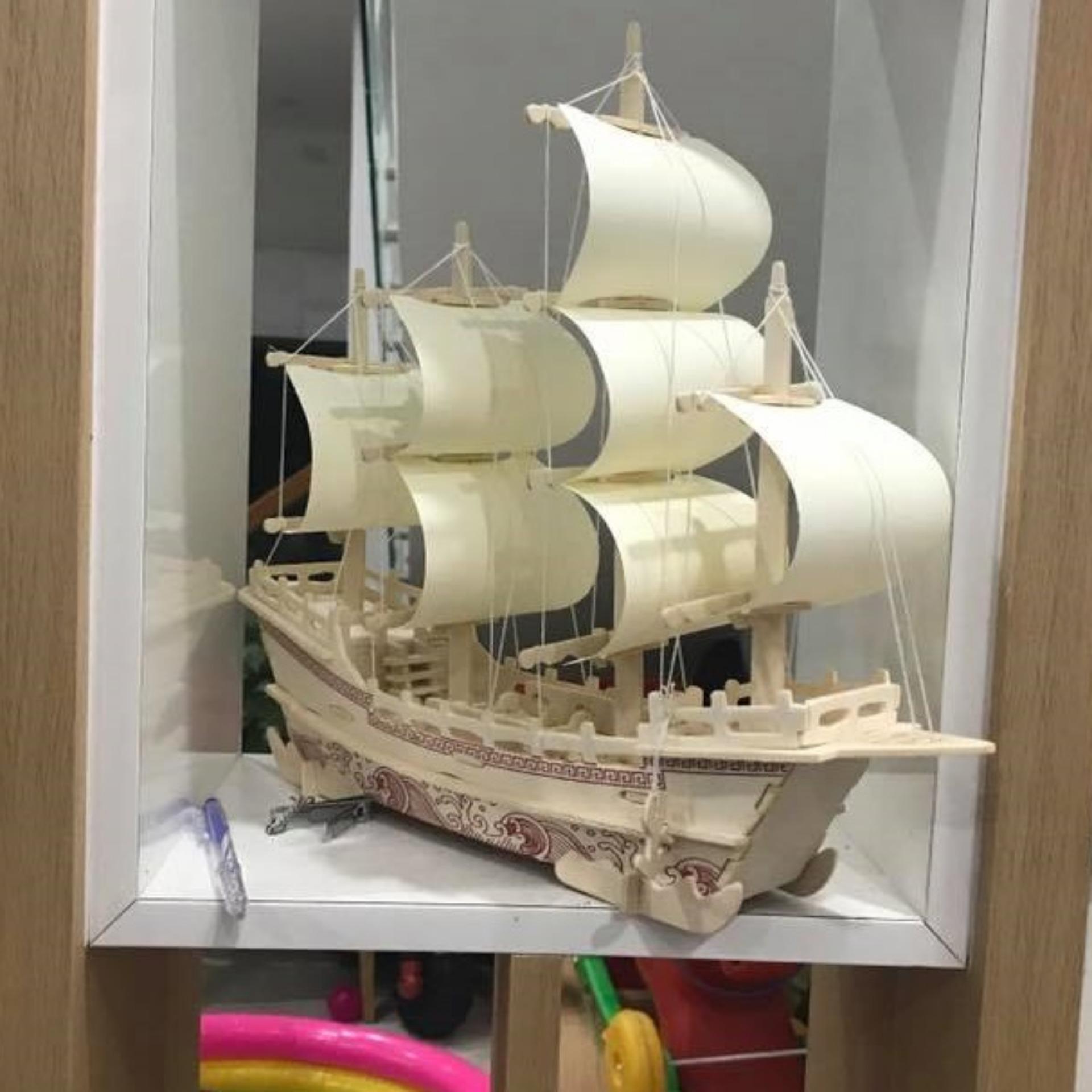 Hình ảnh Đồ chơi lắp ráp gỗ 3D Mô hình Thuyền Thương Gia Merchant Ship