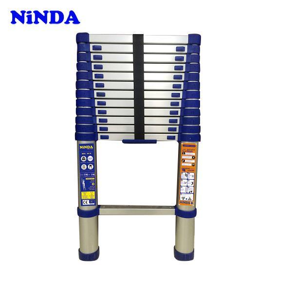 Thang nhôm rút đơn Ninda NK-48 màu xanh
