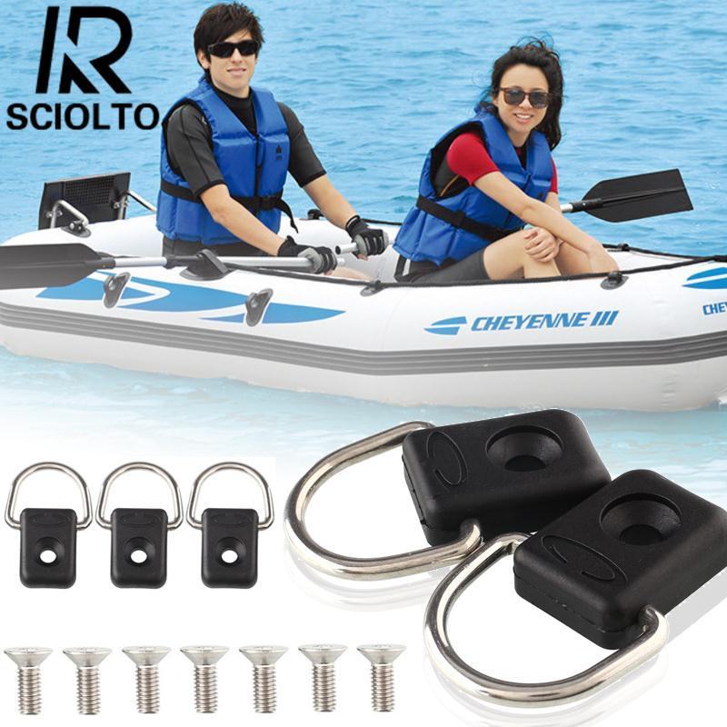 Hình ảnh (Free Shipping)SCIOLTO SPORTS Brand New 10pcs Steel Canoe Kayak Fishing Rigging Bungee Boating Watersports - intl