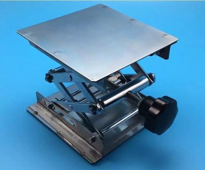 Bàn nâng Bình cầu bằng thép không gỉ 10x10cm nhập khẩu
