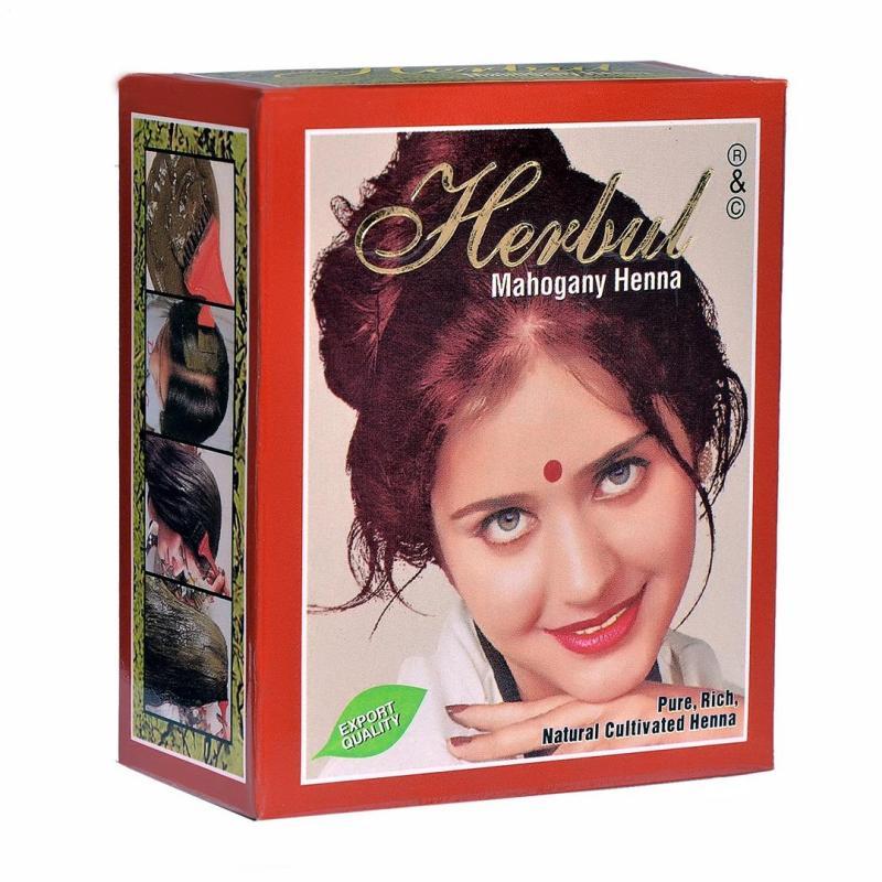 Thuốc nhuộm tóc thảo dược màu nâu đỏ Herbul Mahogany Henna cao cấp