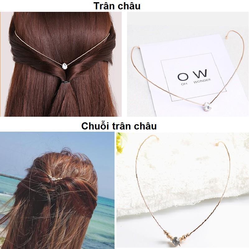 Băng đô cài tóc 2in1 Hàn Quốc (Trân châu) cao cấp