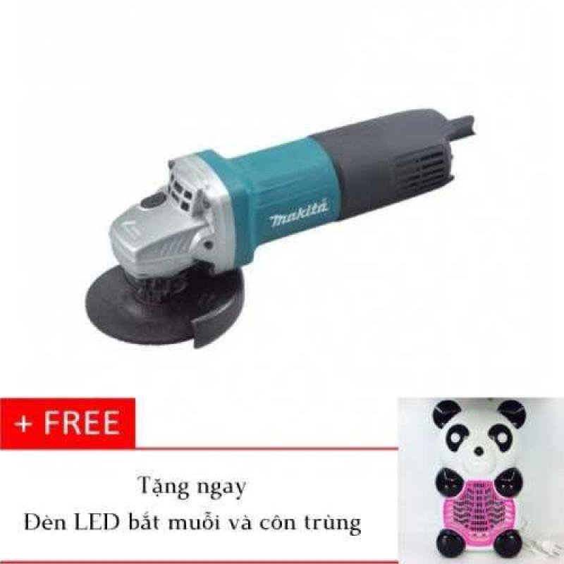 Máy mài cắt Makita 9556NB (Xanh - Đen) tặng kèm đèn LED bắt muỗi và côn trùng