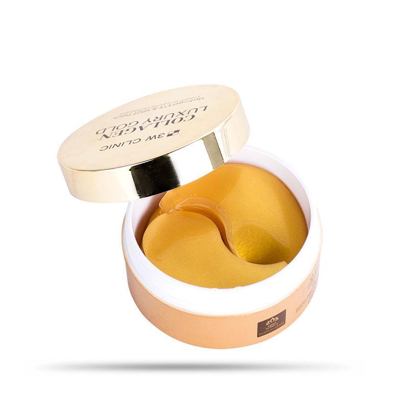 Hình ảnh Mặt Nạ Trị Xóa Nhăn Vùng Mắt 3W Clinic Collagen Luxury Gold 90g (60 miếng)