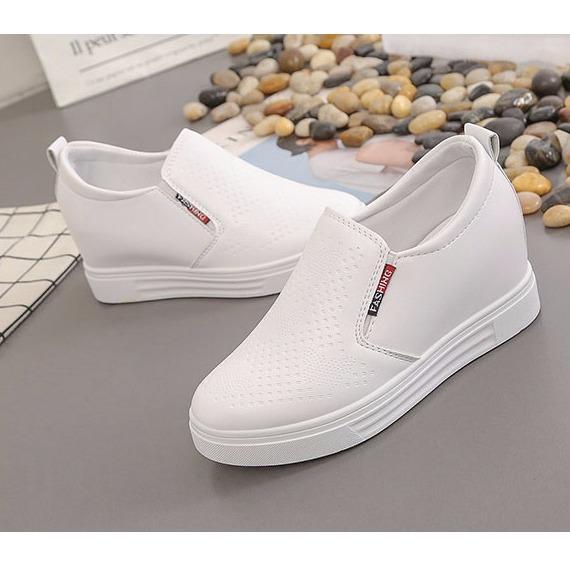 Ôn Tập Giay Sneaker Độn Đế Nữ 7Cm Da Pu Ma H24 Koreashop888 Mới Nhất