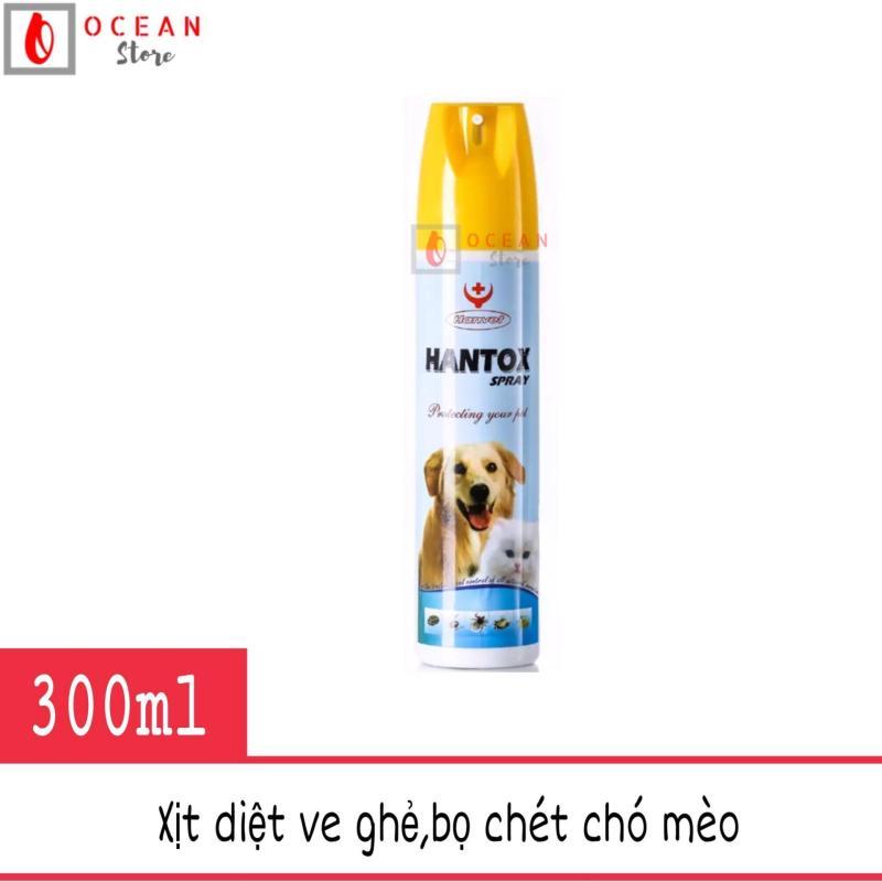 Thuốc xịt ve, bọ chét chó mèo -  Hantox Spray 300ml