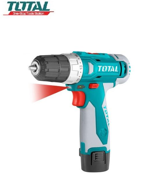 Total - TDLI228120-1 Máy khoan pin Li-on (Kèm 1 pin và 2 mũi khoan)