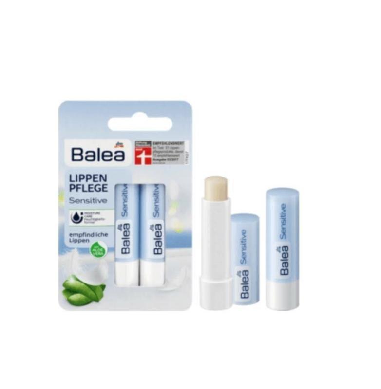 Vỉ 02 thỏi son dưỡng siêu mềm môi BALEA hàng Đức cao cấp