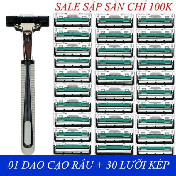 Combo 1 dạo cạo râu và 30 lưỡi dao kép Dao cạo râu giá rẻ
