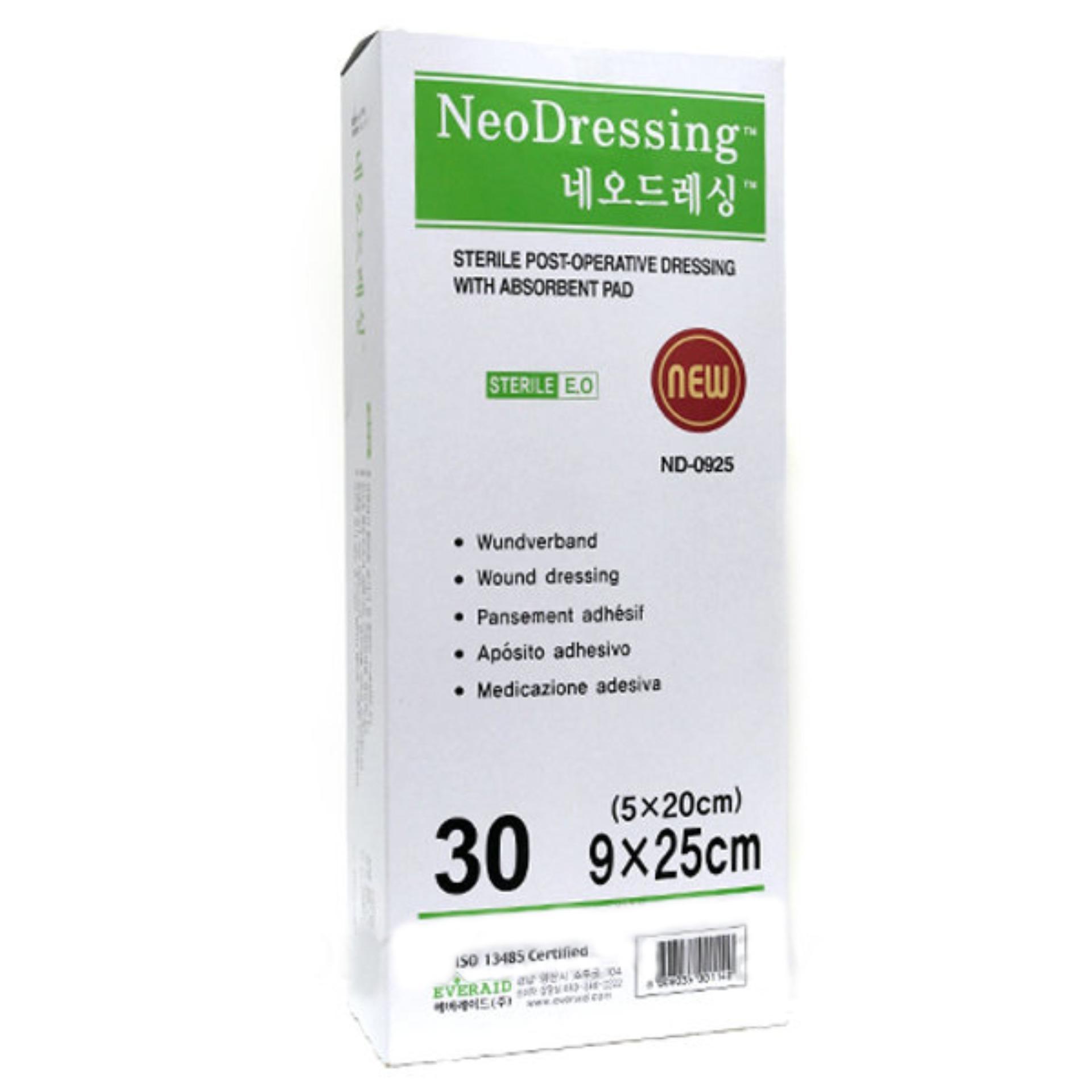 1 miếng Băng keo có gạc vô trùng Neodressing size 9cm x 25cm nhập khẩu
