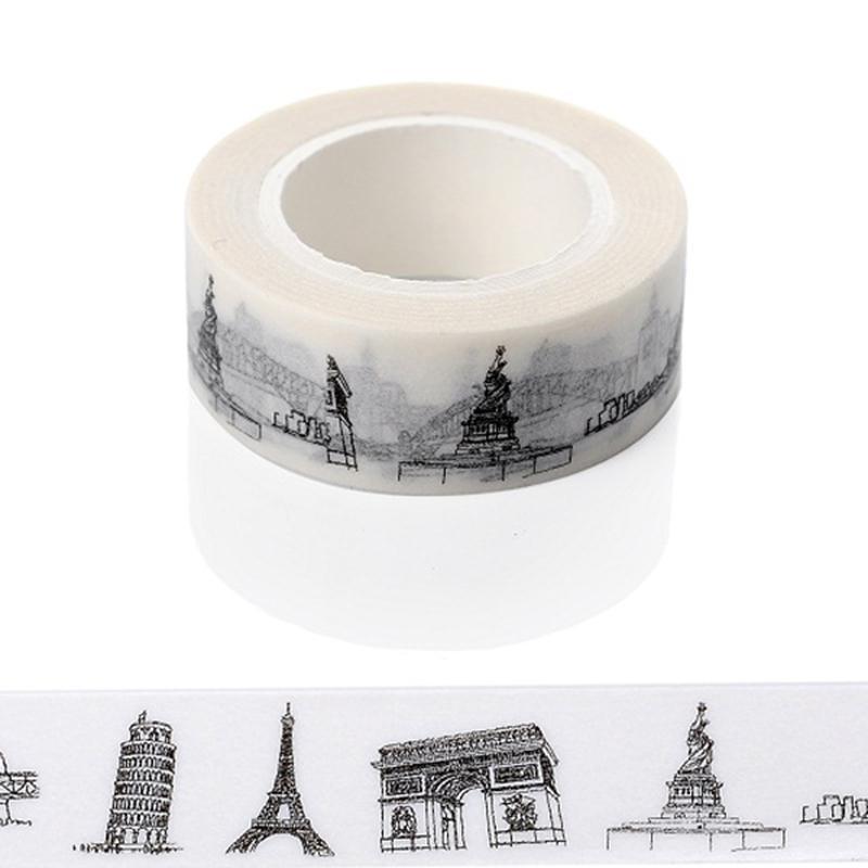 Mua Sketched Paris Eiffel Tower Japanese Washi Tape Office Adhesive Tape Adesivo 15mm*10m Masking Tape Material Escolar - intl