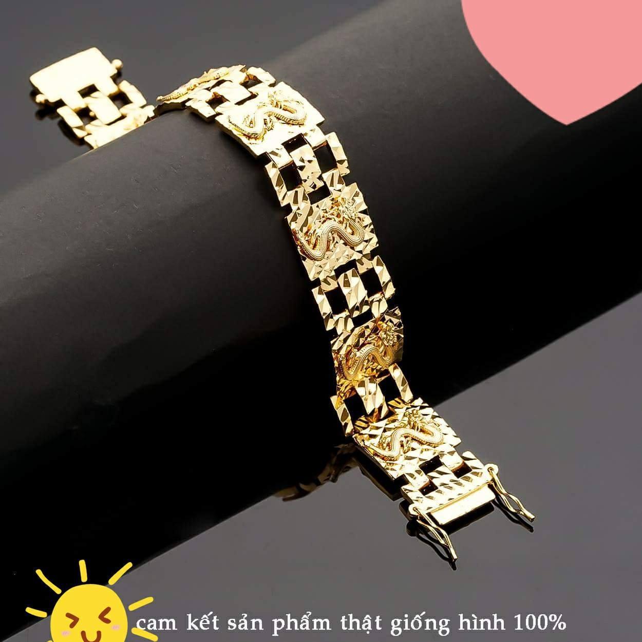Lắc tay rồng nam cao cấp mạ vàng Tinashop