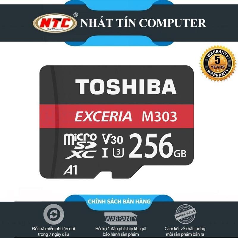 Thẻ nhớ MicroSDXC Toshiba Exceria M303 256GB UHS-I U3 4K V30 A1 R98MB/s W65MB/s (Đen)