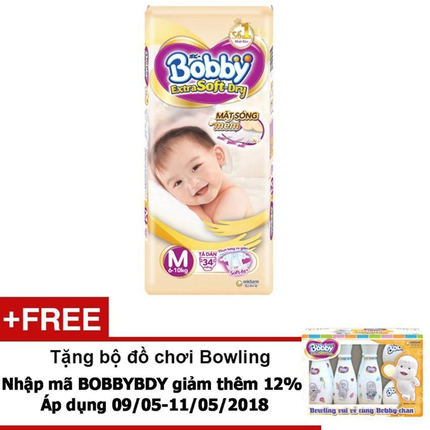 Giá Bán Ta Dan Bobby Extra Soft Dry M34 Tặng Bộ Đồ Chơi Bowling Trị Gia 200 000Nvd Bobby Vietnam