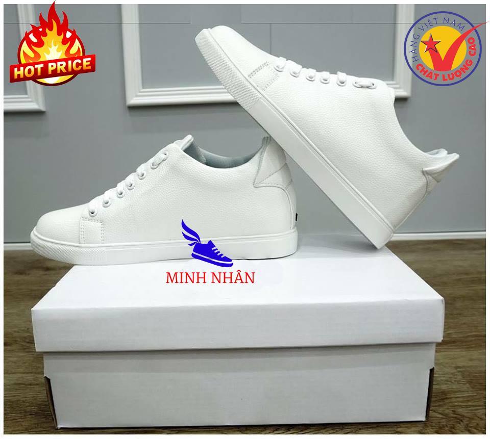 Minh Nhân - Giày Thể thao Sneaker nam trắng  Miếng Lót giày Tăng chiều cao độn đế cao đến 6cm Siêu đẹp giá rẻ TT-02